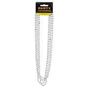 Unique 32 in Silver Bead Necklace