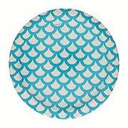 Unique 8ct Cobalt Teal Scallops Plates, 7 Inch