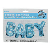 Unique Baby Blue Balloon Banner Kit