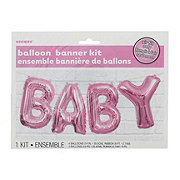 Unique Baby Pink Balloon Banner Kit