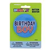 Unique Birthday Boy Button