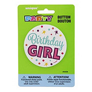 Unique Birthday Girl Button