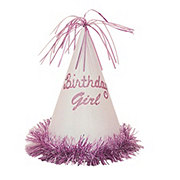 Unique Birthday Girl Glitter Party Hat