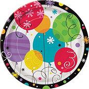 Unique Breezy Birthday Plate, 7 inch