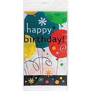 Unique Breezy Happy Birthday Plastic Table Cover