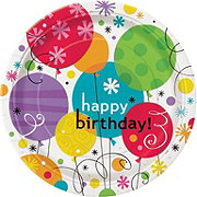 Unique Breezy Happy Birthday Plate, 9 inch