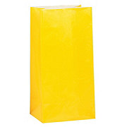 Unique Bright Yellow Paper Party Bags