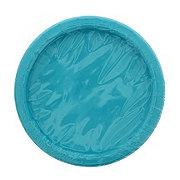 Unique Caribbean Teal Plates, 7 inch