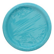 Unique Caribbean Teal Plates, 9 Inch