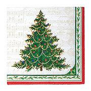 Unique Classic Christmas Tree Lunch Napkins