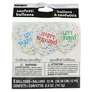 Unique Clear Birthday Balloon With Bright Confetti