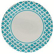 Unique Cobalt Teal Scallops Plates, 9 Inch