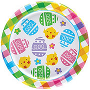 Unique Colorful Plaid 7 in Round Plate