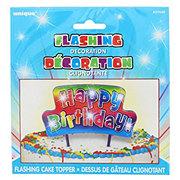 Unique Flashing Rainbow Happy Birthday Cake Topper