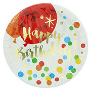 Unique Glitzy Gold Birthday Plates, 9 inch