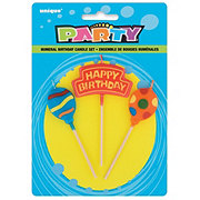 Unique Happy Birthday Balloons Pick Candle Set