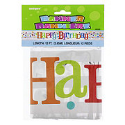 Unique Happy Birthday Confetti Banner