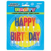 Unique Happy Birthday Letter Candles & Holders