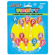 Unique Happy Birthday Round Letter Candles & Holders