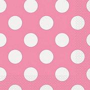Unique Hot Pink Dots Lunch Napkin