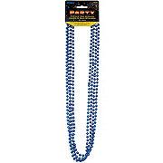 Unique in Blue Metallic Bead Necklace