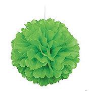 Unique Lime Green Puff Decor