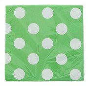 Unique Lime Green with White Dots Beverage Napkins