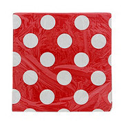 Unique Lunch Napkins Ruby Red Dots