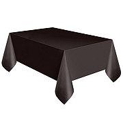 Unique Midnight Black Plastic Table Cover