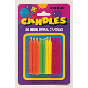 Unique Neon Candles Assorted
