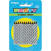 Unique Party Black Stripes Birthday Candles