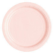 Unique Pastel Pink 9 Inch Plate, 20 CT