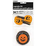 Unique Pumpkin Faces Cupcake Kit