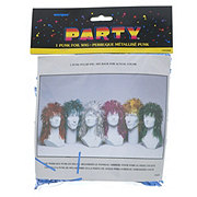 Unique Punk Foil Wig Assorted Colors