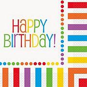 Unique Rainbow Happy Birthday Lunch Napkin