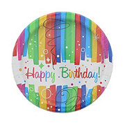 Unique Rainbow Ribbon Birthday Plate, Size 7