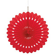Unique Red Decorative Fan