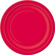 Unique Red Plate, 7 inch