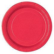 Unique Red Plate, 9 inch