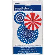 Unique Red White And Blue Fan Decor