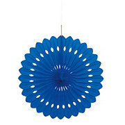 Unique Royal Blue Decorative Fan