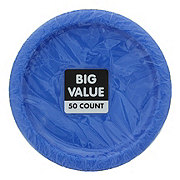 Unique Royal Blue Plate Value Pack,  7 inch