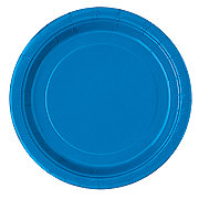 Unique Royal Blue Plates, 9 inch