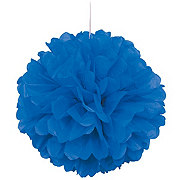 Unique Royal Blue Puff Decor