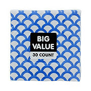 Unique Royal Blue Scallop Beverage Napkin Value Pack
