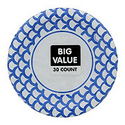 Unique Royal Blue Scallop Plate Value Pack, 7 inch