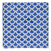 Unique Royal Blue Scallops Lunch Napkins