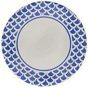 Unique Royal Blue Scallops Plates, 9 inch