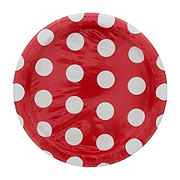 Unique Ruby Red Dots Plates, 7 inch