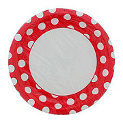 Unique Ruby Red Dots Plates, 9 inch
